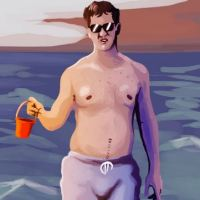 Painting of Shirtless Eli Manning at the Beach Might Be the Greatest Work of Art Ever