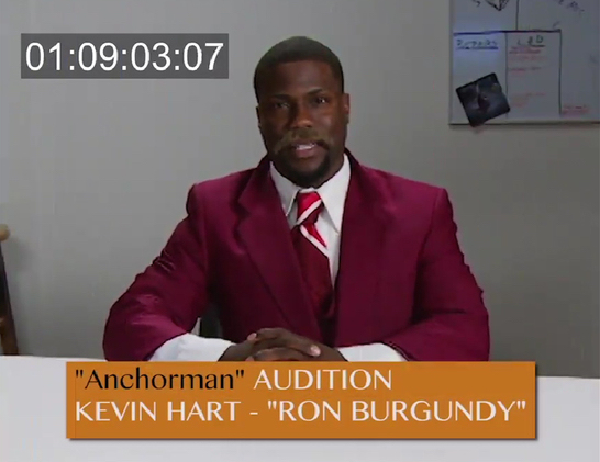 kevin hart anchorman ron burgundy audition