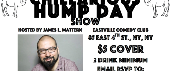 Eastville Chillarious Hump Day Comedy Show Invite Aug 5th 2015 FEATURED