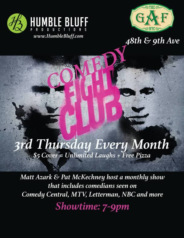 comedy fight club august 20th