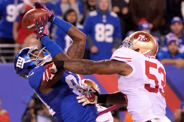 Larry Donnell giants 49ers 2015 NFL football BigBlueView