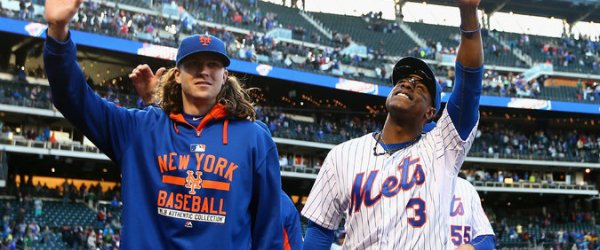 new york mets jacob degrom curtis granderson 2015 baseball mlb