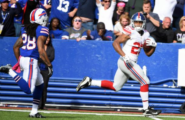 Rashad Jennings Giants Bills 2015 NFL Week 4 NBC New York