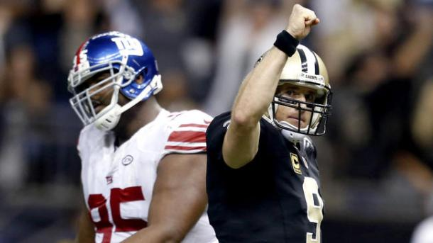 drew brees saints giants 2015 week 8