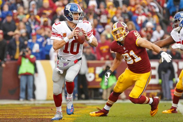 eli manning giants redskins nfl 2015 week 12 ryan kerrigan