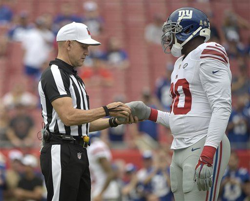 jason pierre-paul giants buccaneers 2015 nfl week 9 referee
