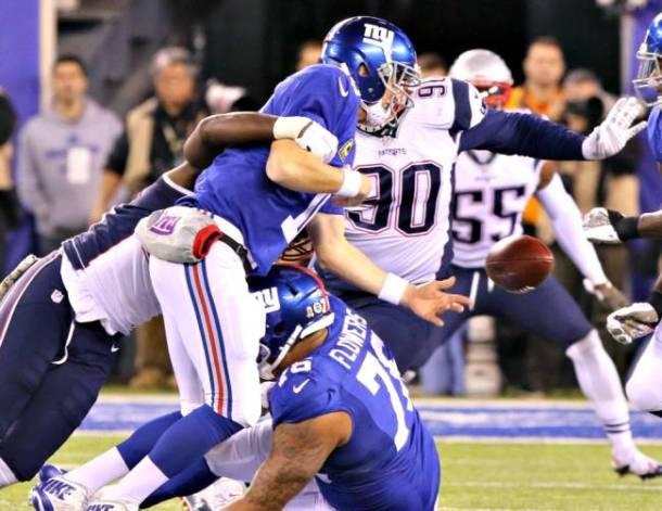 NFL Eli Manning giants patriots week 10 2015 fumble