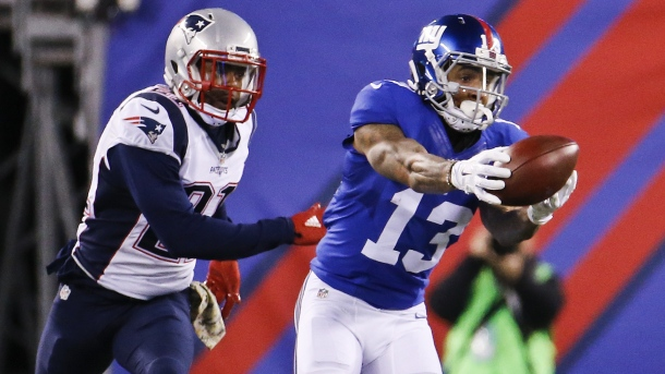NFL Odell Beckham giants patriots Week 10 2015