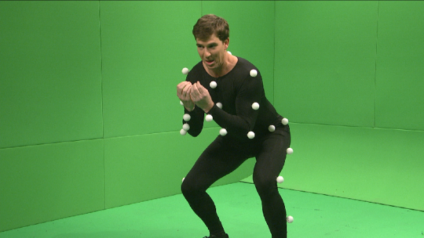 Eli Manning SNL motion capture sketch touchdown dance