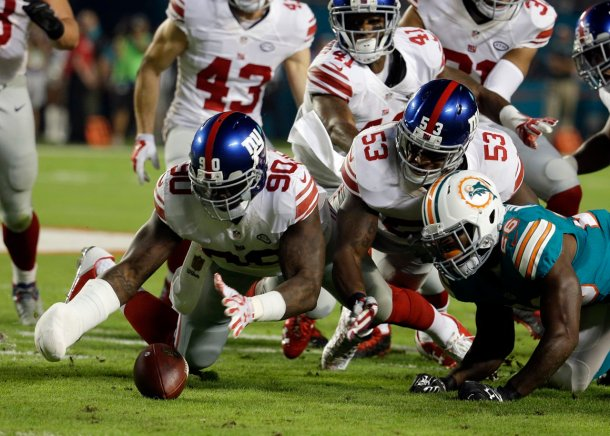 Jason Pierre-Paul Giants Dolphins 2015 NFL