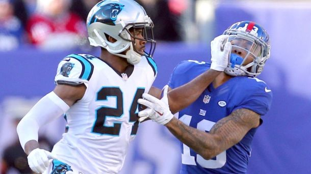 josh norman odell beckham jr giants panthers nfl football 2015