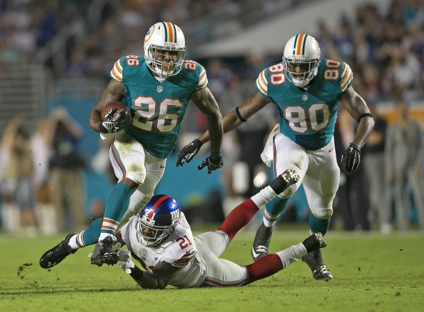 Lamar Miller dolphins giants 2015 nfl football
