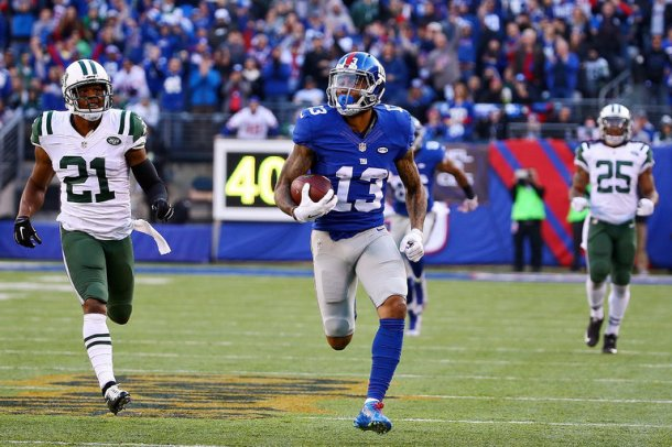 Odell Beckham Jr giants jets nfl 2015 week 13 football