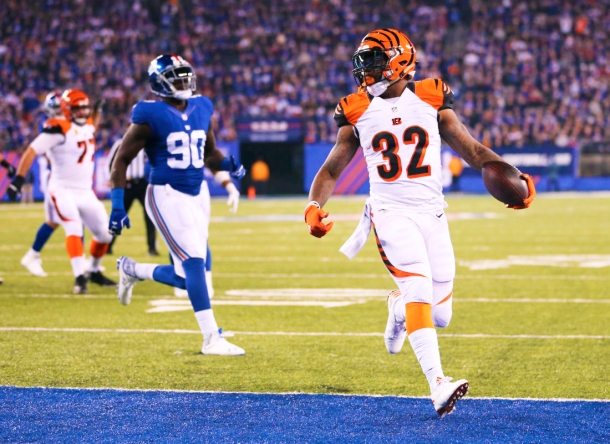 Jeremy Hill Bengals Giants Football