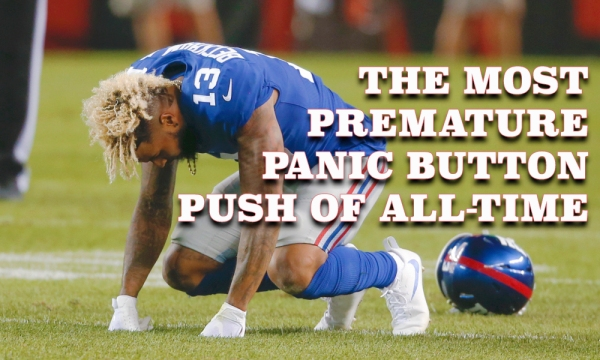 Odell Beckham injury Giants Browns Football MNF ESPN