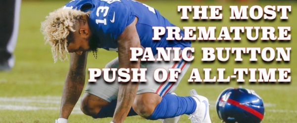 Odell Beckham injury Giants Browns Football MNF ESPN