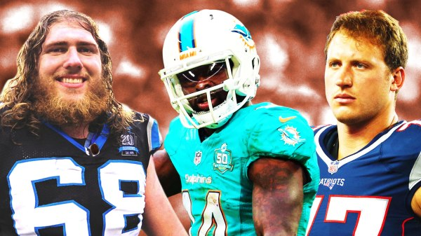 2018 NFL free agents: Panthers guard Andrew Norwell, Dolphins wide receiver Jarvis Landry, and Patriots tackle Nate Solder