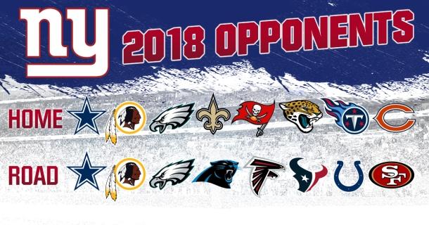 ny giants 2018 opponents