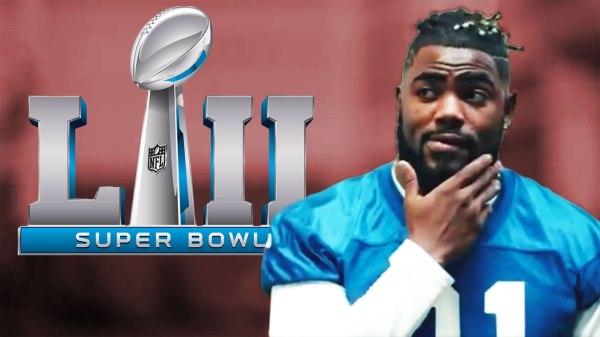 New York Giants safety Landon Collins in the NFL's Super Bowl 52 teaser video.