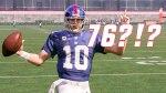 New York Giants quarterback Eli Manning in Madden video game.
