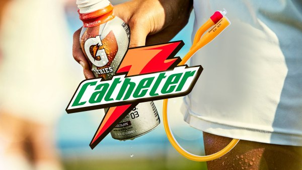 Gatorade catheter
