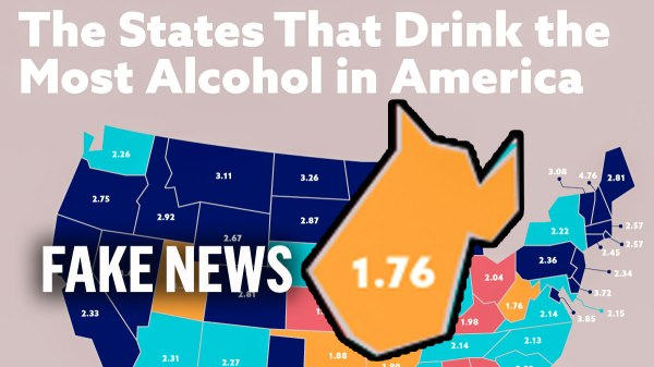 West Virginia is one of the states that drinks the least in America according to this infographic.