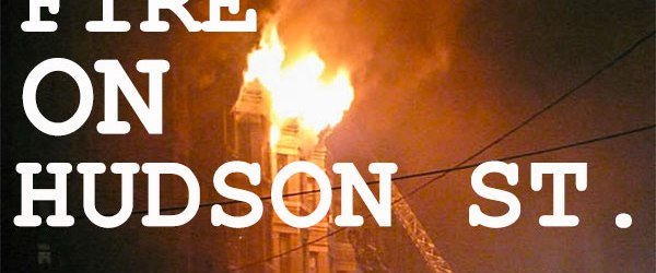 Fire in an apartment building owned by Applied Housing at the 1200 block of Hudson Street in Hoboken, New Jersey.
