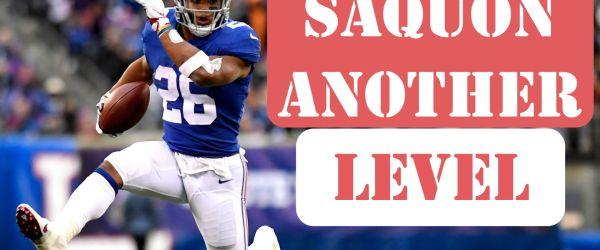 New York Giants running back Saquon Barkley ran wild against the Tampa Bay Buccaneers in his team's 38-35 win in Week 11. Photo via Gannett