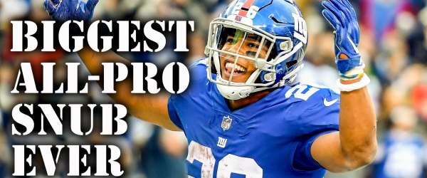 NY Giants running back Saquon Barkley was snubbed from the NFL All-Pro team.