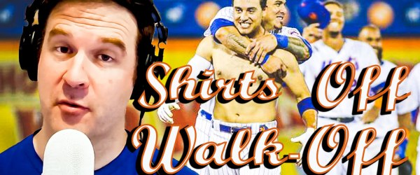 mets michael conforto shirtless walk off