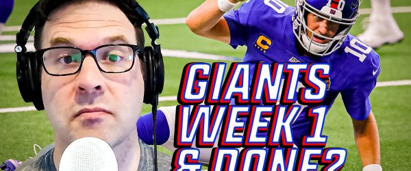New York Giants Eli Manning Week 1