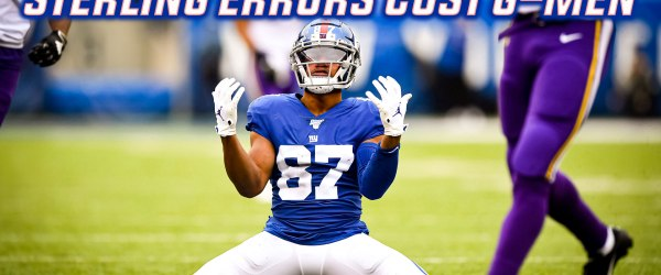 Sterling Shepard Giants Vikings Week 5 NFL Football