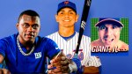 New York Giants cornerback Deandre Baker, New York Mets shortstop Andres Gimenez, Giants Mess show logo