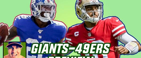 New York Giants running back Wayne Gallman and San Francisco 49ers quarterback Jimmy Garoppolo