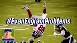 new york giants tight end evan engram flipped upside down in the thursday night football game vs the philadelphia eagles